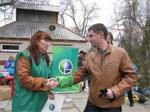 В Саратове  23 апреля прошла традиционная ежегодная акция «Зеленый субботник», организованная компанией «МегаФон».